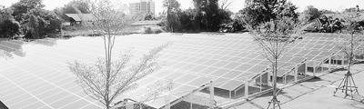 """超市后的""""太阳能光伏电池农场""""每天能生产264千瓦电。"""