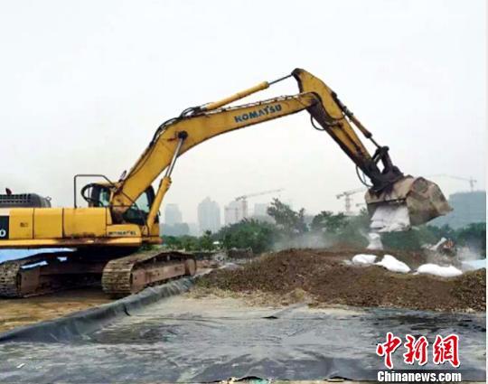 全国首例氰化物污染场地修复治理工程。受访者提供