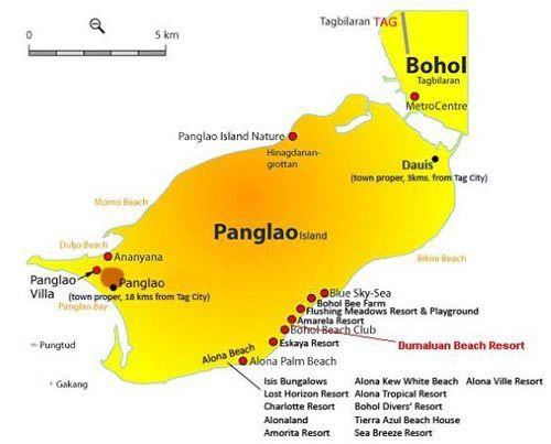 彭劳岛地图