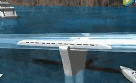 """舟山要建全球首条""""海底超级高铁""""!坐车厢看海底美景"""